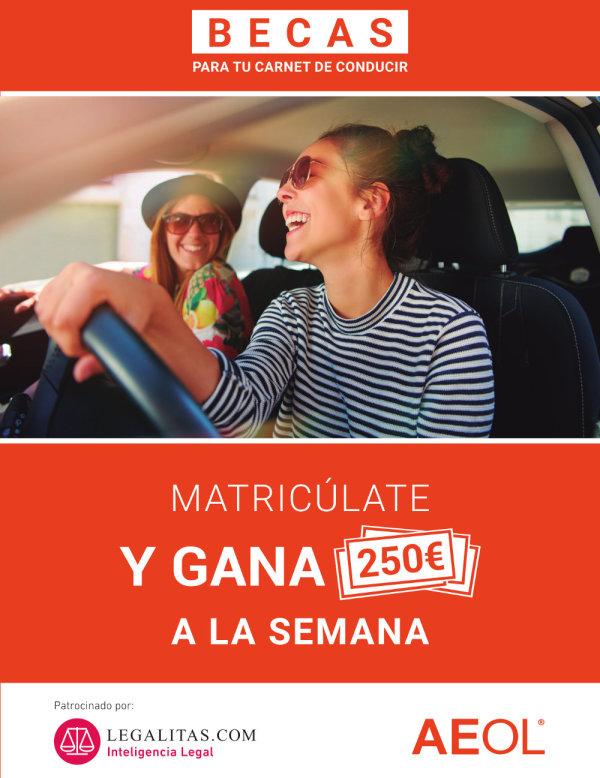Consigue una beca de 250€ semanales para tu carnet de conducir