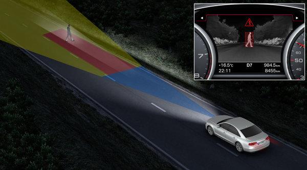 Visión nocturna con infrarrojos para evitar accidentes
